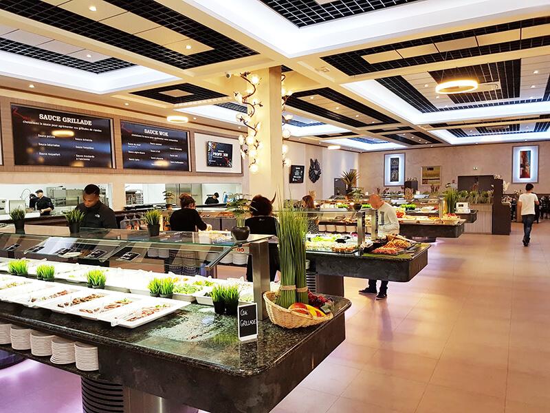 """PROFUZION – """"Una Gran Instalación De Buffets Para Un Gran Restaurante Wok En Francia»"""