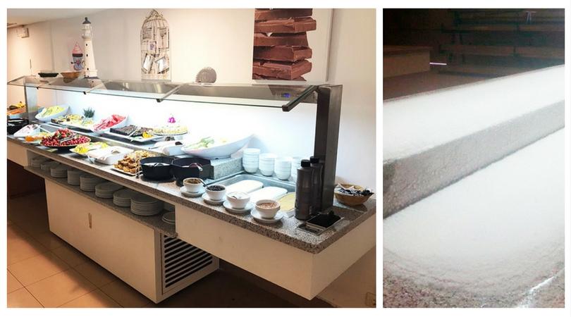 Buffets Con Doble Altura Fría Escarchada En Las Encimeras