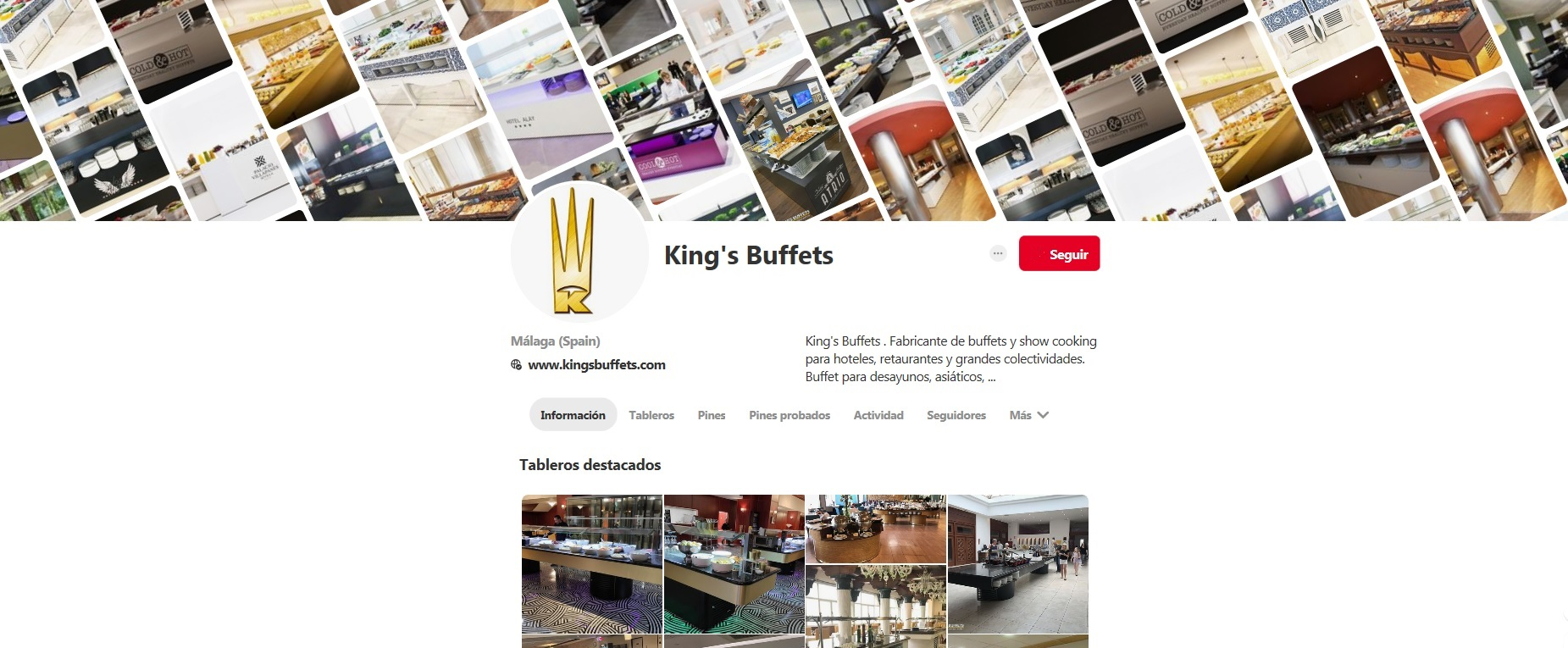 Updated Our Pinterest – King's Buffets